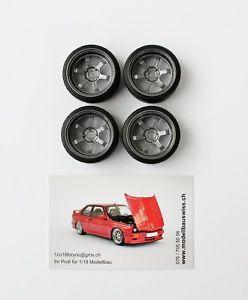 【送料無料】模型車 モデルカー スポーツカー テインチチューニングvolk te37v 16 zoll anthrazit 118 tuning umbau 1zu18