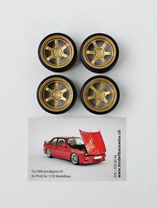 【送料無料】模型車 モデルカー スポーツカー テインチゴールドチューニングvolk te37v 16 zoll gold 118 tuning umbau 1zu18