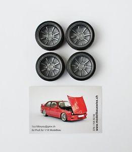 【送料無料】模型車 モデルカー スポーツカー インチチューニングwatanabe 16 zoll anthrazit 118 tuning umbau 1zu18