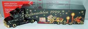 【送料無料】模型車 モデルカー スポーツカー ケーストタークリスマス187 scania t144 kersattelzug weihnachten 1999 herpa 188791