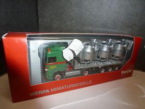 【送料無料】模型車 モデルカー スポーツカー アルミトレーラーherpa,159098 daf xf 105 sc flssigaluminiumsattelzug angermayr a