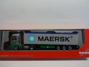 【送料無料】模型車 モデルカー スポーツカー herpa 308441 man tgx xxl euro 6c container sattelzug ekb maersk 187 neu