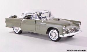 【送料無料】模型車 モデルカー スポーツカー フォードサンダーバードメタリックグリーンホワイトヒートford thunderbird hardtop metallicgrnweiss 1956 118 motormax