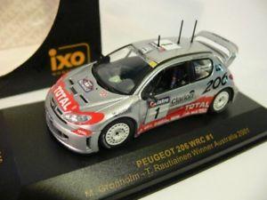 【送料無料】模型車 モデルカー スポーツカー ネットワークプジョー#オーストラリア143 ixo peugeot 206 wrc 1 winner australia 2001 ram046
