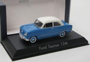 【送料無料】模型車 モデルカー スポーツカー フォードford taunus 12m 1954 blau weiss norev 143
