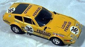 【送料無料】模型車 モデルカー スポーツカー フェラーリデイトナ#ルマンモデルferrari 365 gtb 4 daytona 36 le mans 1972 top model giallo 143