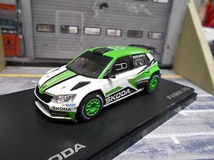 【送料無料】模型車 モデルカー スポーツカー skoda fabia r5 rallye test prsentation 2017 works look neu abrex 143