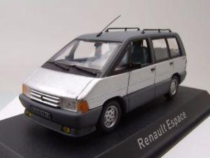 【送料無料】模型車 モデルカー スポーツカー ルノーエスパスシルバーモデルカーrenault espace 1984 silber, modellauto 143 norev