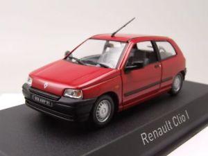【送料無料】模型車 モデルカー スポーツカー ルノークリオモデルカーrenault clio 1990 rot, modellauto 143 norev