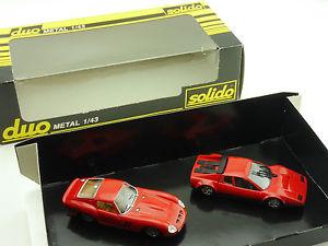 【送料無料】模型車 モデルカー スポーツカー フェラーリフェラーリsolido duo ferrari 250 gto ferrari 512 bb rot 143 ovp 16022760