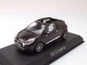 【送料無料】模型車 モデルカー スポーツカー シトロエンカブリオレパープルメタリックモデルカーcitroen ds 3 cabrio 2016 lila metallic, modellauto 143 norev