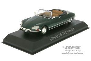 【送料無料】模型車 モデルカー スポーツカー シトロエンカブリオレグリーンcitroen ds 21 cabriolet baujahr 1971 grn 143 norev 157080