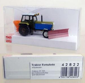【送料無料】模型車 モデルカー スポーツカー ブッシュトターat374 busch 187 42822 traktor fortschritt zt 300 winterdienst *neu*