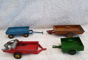 【送料無料】模型車 モデルカー massey x manure スポーツカー ビンテージマッシーハリスvintage dinky trailers x 3 and massey harris manure spreader, ミヨシシ:5625335e --- loveszsator.hu
