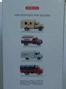 【送料無料】模型車 モデルカー スポーツカー バイキングオペルブリッツヴィデwiking 75 jahre opel blitz 4er videoset 0990 44