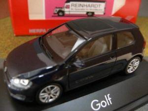 【送料無料】模型車 モデルカー スポーツカー 143 herpa vw golf vii 2trig night blue metallic 070706