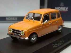 【送料無料】模型車 モデルカー スポーツカー ルノーオレンジnorev renault r 4, 1974, orange 510039 143