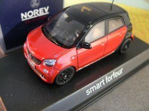 【送料無料】模型車 モデルカー スポーツカー スマートフォーフォー143 norev smart forfour 2015 rotschwarz 351425