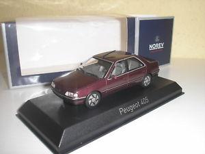 【送料無料】模型車 モデルカー スポーツカー プジョーアルハンブラレッドpeugeot 405 alhambra rot 1991 in 143 von norev