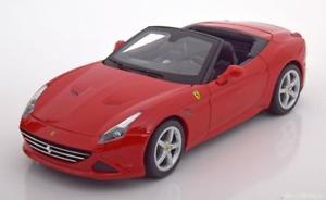 【送料無料】模型車 モデルカー スポーツカー フェラーリカリフォルニアレッドオープンハット118 bburago ferrari california t open 2014 red