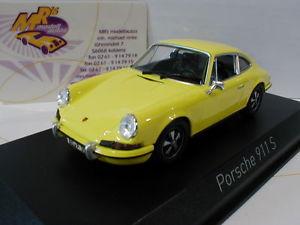 【送料無料】模型車 モデルカー スポーツカー ポルシェクーペnorev 750056 porsche 911 s coupe baujahr 1973 in gelb 143 neu