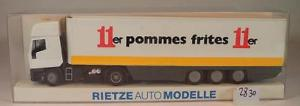 【送料無料】模型車 モデルカー スポーツカー somoトターケース#rietze 187 nr somo iveco eurostar sattelzug ker 11er pommes frites ovp2830