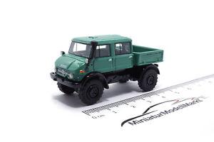 【送料無料】模型車 モデルカー スポーツカー 87315 bosmodels mercedes unimog u416 doka grn 1977 187