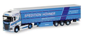 【送料無料】模型車 モデルカー スポーツカー herpa 308458 187 scania cs hd gardinenplanensz hhner neu