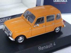 【送料無料】模型車 モデルカー スポーツカー ルノーオレンジ143 norev renault 4 1974 orange 510039
