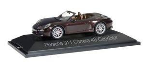 【送料無料】模型車 モデルカー スポーツカー ポルシェマホガニーメタリックカレラherpa 071079 porsche 911 carrera 4s cabrio in mahagonimetallic 143 neu amp; ovp
