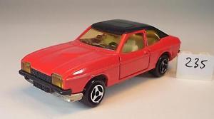 【送料無料】模型車 モデルカー スポーツカー フォードカプリクーペ#majorette 160 nr 251 ford capri coupe rotschwarz nr 1 235