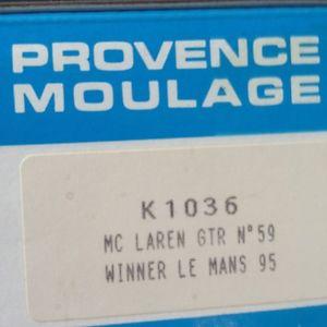 【送料無料】模型車 モデルカー スポーツカー ルマンプロヴァンスムラージュキットle mans winner mc laren f1 gtr provence moulage kit 1995