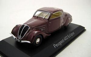 【送料無料】模型車 モデルカー スポーツカー プジョーダークレッドpeugeot 402 eclipse 1937 dark red 143 474217 norev