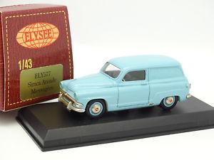【送料無料】模型車 モデルカー スポーツカー elyse 143 simca aronde messagre bleue