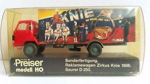 【送料無料】模型車 モデルカー スポーツカー サーカスpreiser 20710 zirkus knie 1986 saurer d 250, 187