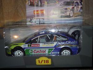 【送料無料】模型車 モデルカー スポーツカー ダカールラリーカーモデルカーフォードフォーカスネットワークauto voitures de rallye rally model car ford focus wrc hirvonen 118 altaya ixo