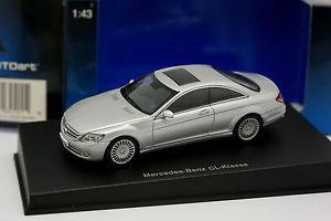 【送料無料】模型車 モデルカー スポーツカー メルセデスクラスシルバーauto art 143 mercedes cl klasse silver