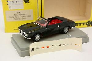 【送料無料】模型車 モデルカー スポーツカー アルファロメオジュリアオープンprogetto k 143 alfa romeo giulia gtc open noire 1965