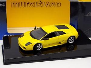 【送料無料】模型車 モデルカー スポーツカー ランボルギーニムルシエラゴauto art 143 lamborghini murcielago jaune