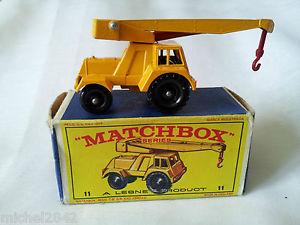【送料無料】模型車 モデルカー スポーツカー マッチジャンボクレーンmatchbox 11 jumbo crane lesney boite boxed grue
