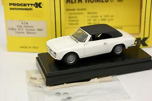 【送料無料】模型車 モデルカー スポーツカー アルファロメオジュリアブランシュprogetto k 143 alfa romeo giulia gtc closed blanche 1965