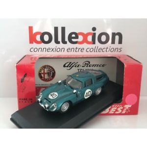 【送料無料】模型車 モデルカー スポーツカー アルファロメオルマンalfa romeo tz1 n40 le mans 1964