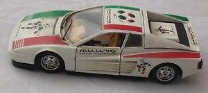 【送料無料】模型車 モデルカー スポーツカー スポンサーイタリアイタリアスカラフェラーリmacchina sponsor italia 90 burago ferrari testarossa made in italy scala 124