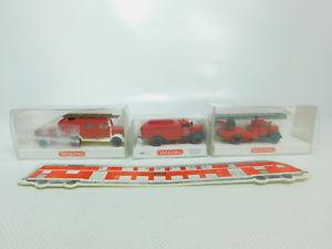 【送料無料】模型車 モデルカー スポーツカー bo9760,5 3x wiking h0187 fw opel 0861 863 862 drehleiter, topovp