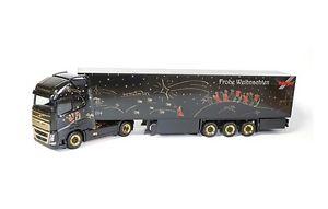【送料無料】模型車 モデルカー スポーツカー ボルボスーツケースセミトレーラトラッククリスマス