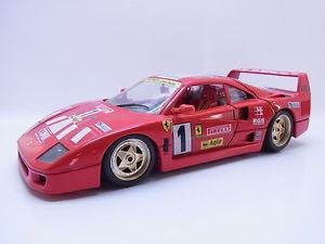 【送料無料】模型車 モデルカー スポーツカー フェラーリクラブイタリアレーシングレッドモデルカー45107 burago ferrari f40 club italia 1987 racing rot 118 modellauto selten