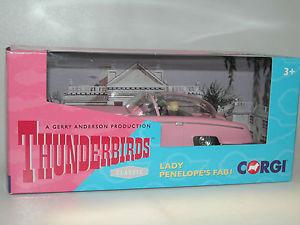 【送料無料】模型車 モデルカー スポーツカー コーギージェリーアンダーソンレディペネロペcorgi cc00604, gerry anderson thunderbirds lady penelopes fab i mit figuren neu