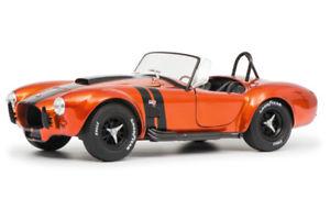 【送料無料】模型車 モデルカー スポーツカー コブラライトオレンジブラックsolido ac cobra 427 mk ii 1965 leuchtorange schwarz 4118430 118