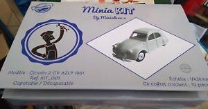【送料無料】模型車 モデルカー スポーツカー フランスキットヌフcitron 2 cv azlp 1961 designed by minialuxe france 143 ref kit_001 neuf boite