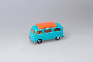 【送料無料】模型車 モデルカー スポーツカー マッチフォルクスワーゲンキャンパーカラーターコイズmatchbox vw camper, farbe trkis  1970 er jahre ******